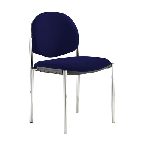Coda multi purpose stackable conference chair with no arms - Ocean Blue - Furniture