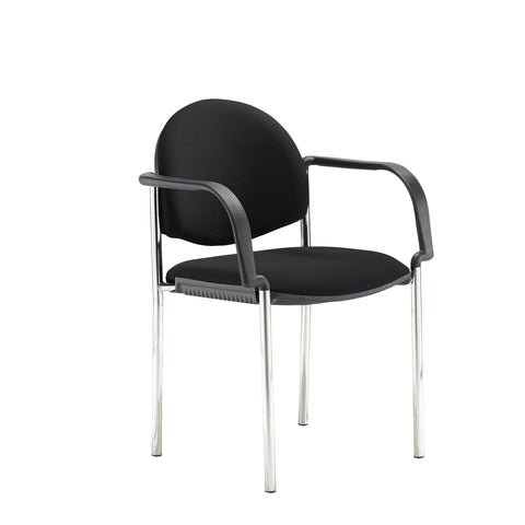 Coda multi purpose chair, with arms, black fabric - Furniture