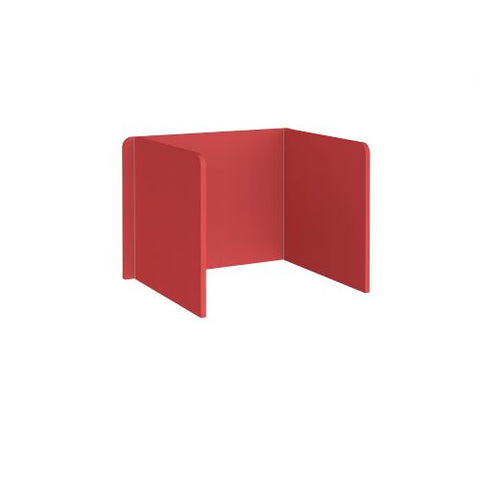 Free-standing 3-sided 700mm high fabric desktop screen 1000mm wide - pitlochry red - Furniture