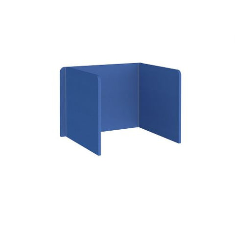 Free-standing 3-sided 700mm high fabric desktop screen 1000mm wide - galilee blue - Furniture