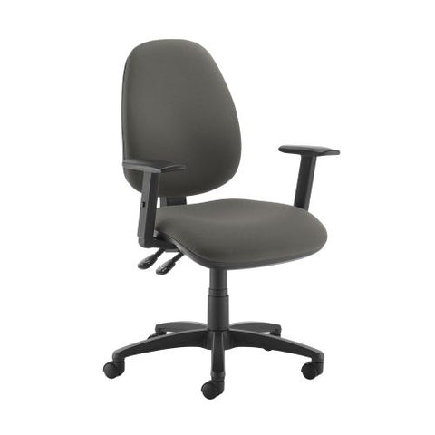 Jota high back operator chair with adjustable arms - Slip Grey - Furniture