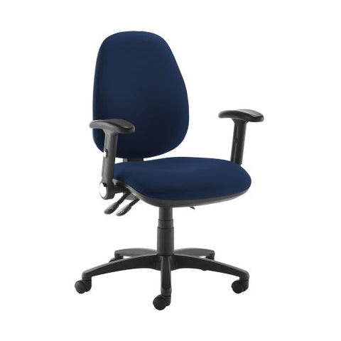 Jota high back operator chair with folding arms - Costa Blue - Furniture