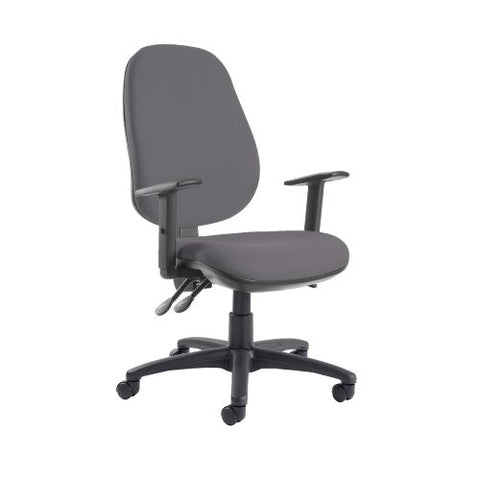 Jota extra high back operator chair with adjustable arms - Blizzard Grey - Furniture