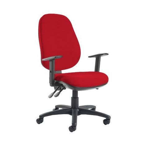 Jota extra high back operator chair with adjustable arms - Belize Red - Furniture
