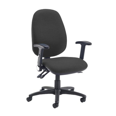 Jota extra high back operator chair with folding arms - Havana Black - Furniture