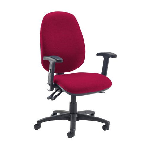 Jota extra high back operator chair with folding arms - Diablo Pink - Furniture