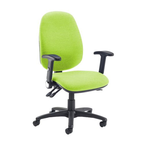 Jota extra high back operator chair with folding arms - Madura Green - Furniture