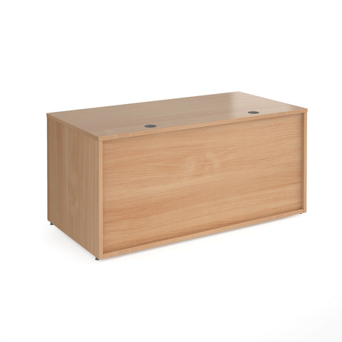 Denver reception straight base unit 1600mm - beech - Furniture