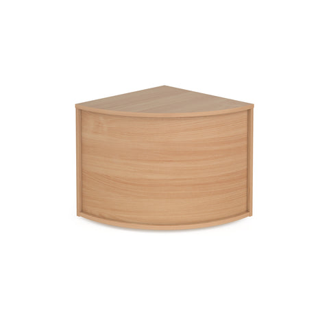 Denver reception corner base unit 800mm x 800mm - beech - Furniture