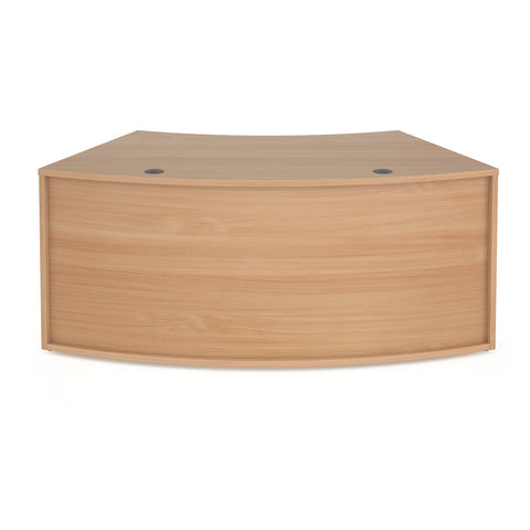 Denver reception 45� curved base unit 1800mm - beech - Furniture