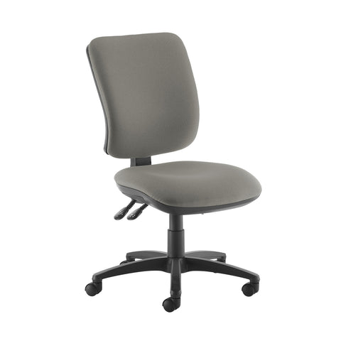 Senza high back operator chair with no arms - Slip Grey - Furniture