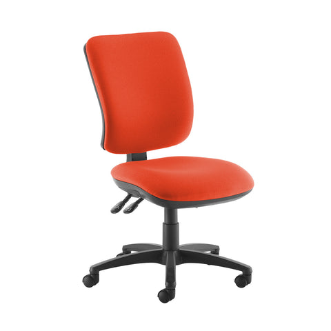 Senza high back operator chair with no arms - Tortuga Orange - Furniture