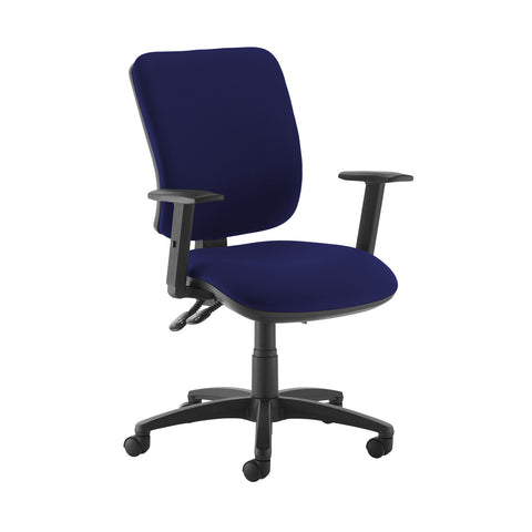 Senza high back operator chair with adjustable arms - Ocean Blue - Furniture