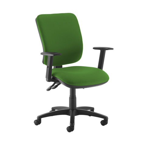 Senza high back operator chair with adjustable arms - Lombok Green - Furniture