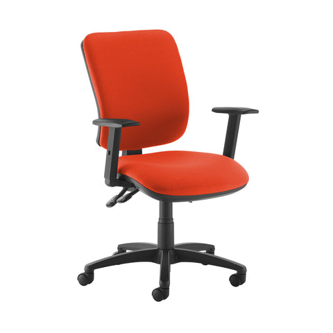 Senza high back operator chair with adjustable arms - Tortuga Orange - Furniture