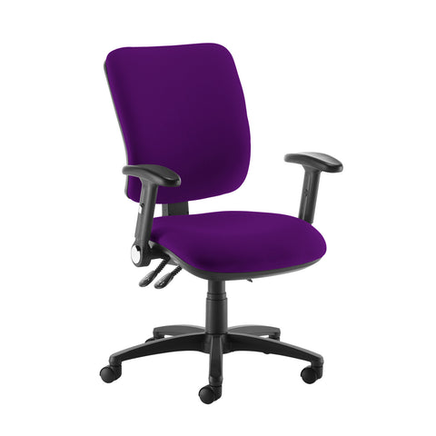 Senza high back operator chair with folding arms - Tarot Purple - Furniture