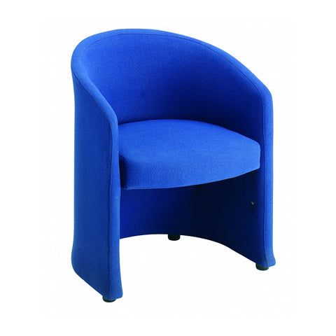 Slender fabric reception single tub chair 620mm wide - blue - Furniture