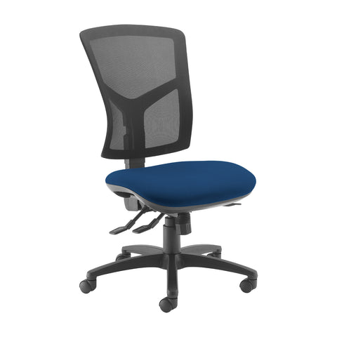 Senza high mesh back operator chair with no arms - Costa Blue - Furniture