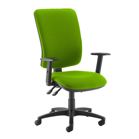 Senza extra high back operator chair with adjustable arms - Madura Green - Furniture