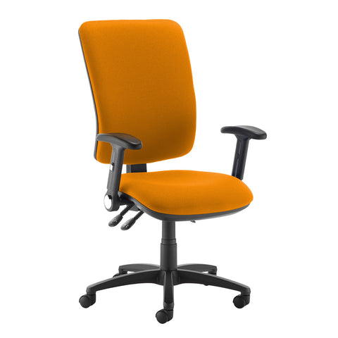 Senza extra high back operator chair with folding arms - Solano Yellow - Furniture
