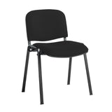 Taurus meeting room stackable chair with black frame and no arms - Havana Black - Furniture