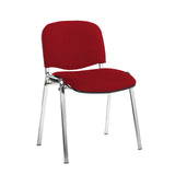 Taurus meeting room stackable chair with black frame and no arms - Panama Red - Furniture