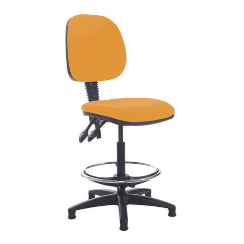 Jota draughtsmans chair with no arms - Solano Yellow - Furniture