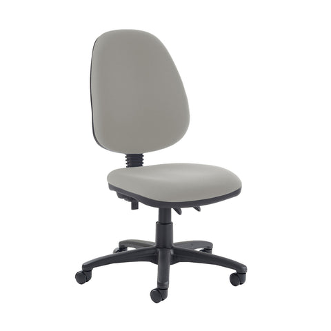 Jota high back PCB operator chair with no arms - Slip Grey - Furniture