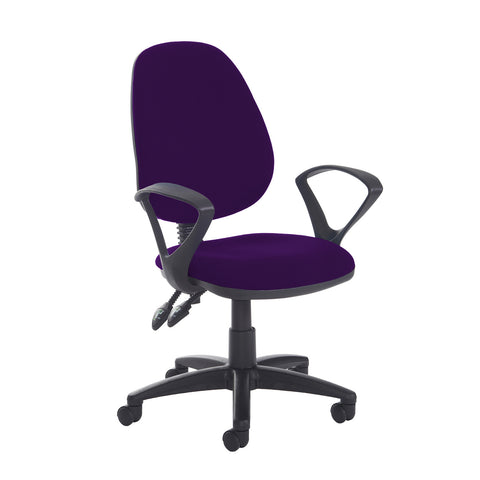Jota high back PCB operator chair with fixed arms - Tarot Purple - Furniture