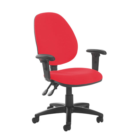 Jota high back PCB operator chair with adjustable arms - Belize Red - Furniture