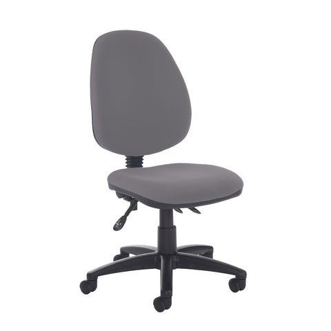 Jota high back asynchro operators chair with no arms - Blizzard Grey - Furniture