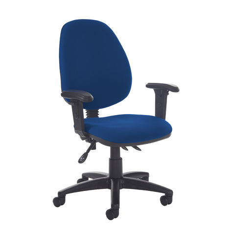 Jota high back asynchro operators chair with adjustable arms - Curacao Blue - Furniture