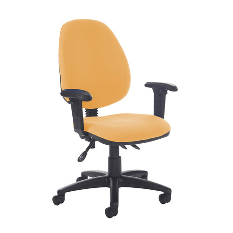 Jota high back asynchro operators chair with adjustable arms - Solano Yellow - Furniture