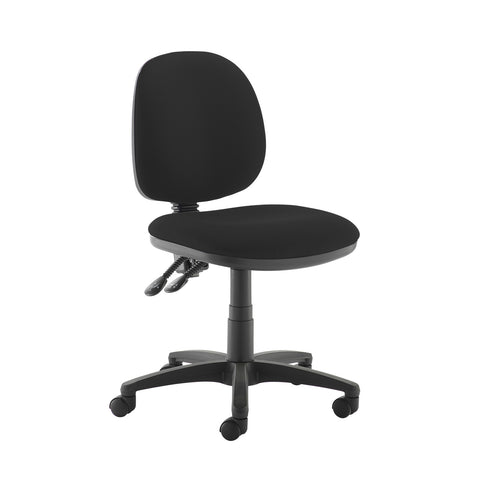 Jota medium back PCB operators chair with no arms - Havana Black - Furniture