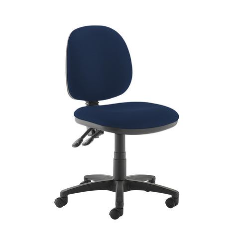 Jota medium back PCB operators chair with no arms - Costa Blue - Furniture