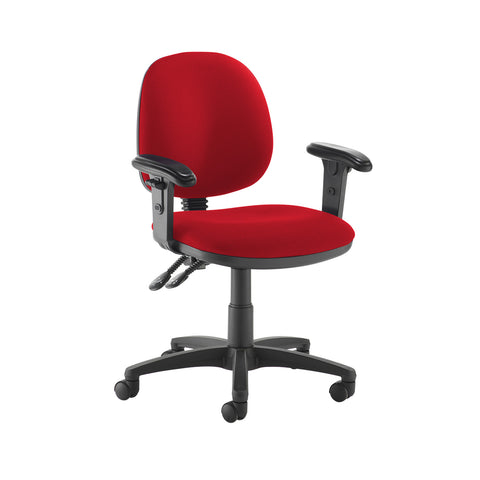 Jota medium back PCB operators chair with adjustable arms - Belize Red - Furniture