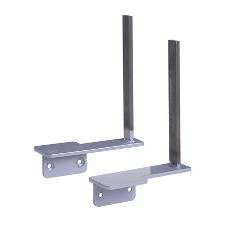 Aluminium framed screen brackets (pair) to fit on desk return - white - Furniture