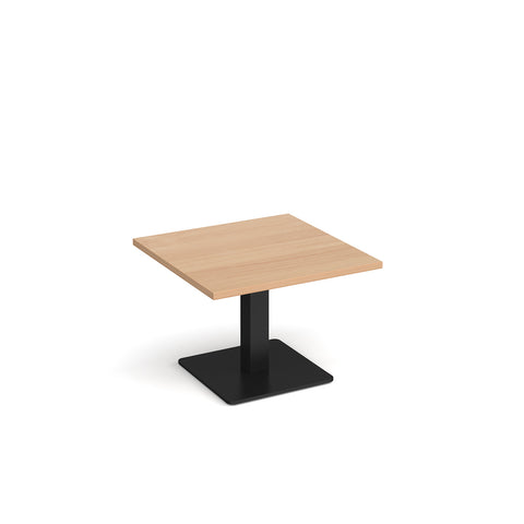 Brescia square coffee table with flat square black base 700mm - beech - Furniture