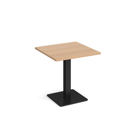 Brescia square dining table with flat square black base 700mm - beech - Furniture