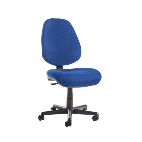 Bilbao fabric operators chair with no arms - blue - Furniture