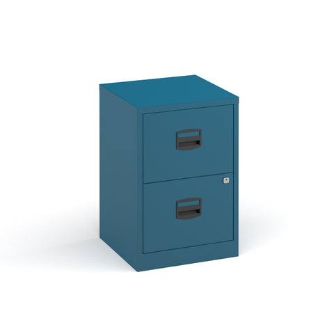 Bisley A4 home filer with 2 drawers - blue - Furniture
