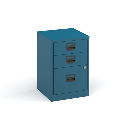 Bisley A4 home filer with 3 drawers - blue - Furniture