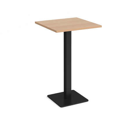Brescia square poseur table with flat square black base 700mm - beech - Furniture