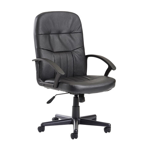 Cavalier high back managers chair - black leather faced - Furniture