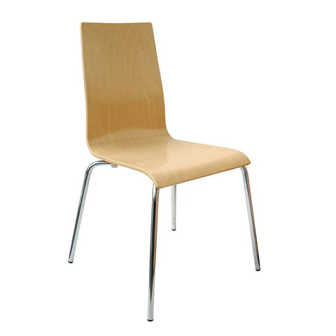 Fundamental dining chair in beech with chrome frame - Furniture
