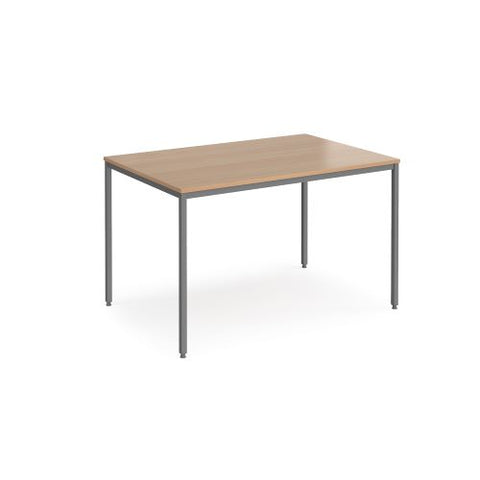 Rectangular flexi table with graphite frame 1200mm x 800mm - beech - Furniture