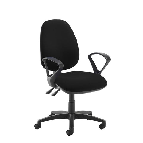 Jota high back operator chair with fixed arms - black - Furniture