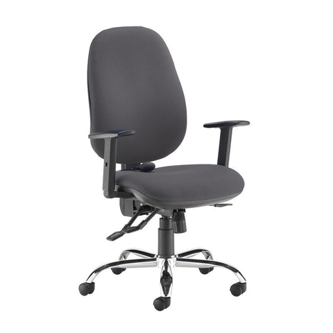 Jota ergo 24hr ergonomic asynchro task chair - Blizzard Grey - Furniture