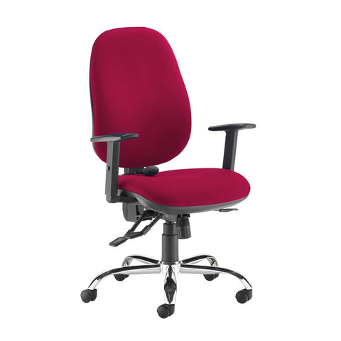 Jota ergo 24hr ergonomic asynchro task chair - Diablo Pink - Furniture