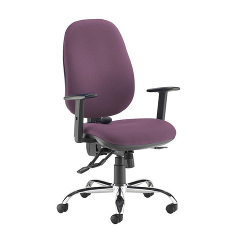 Jota ergo 24hr ergonomic asynchro task chair - Bridgetown Purple - Furniture